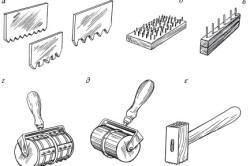 Инструменты для обработки декоративной штукатурки.