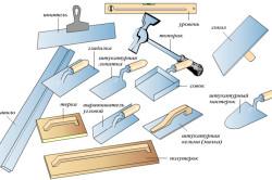 Необходимые материалы и инструменты для кладки штукатурки.