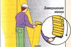 Схема нанесения штукатурки валиком
