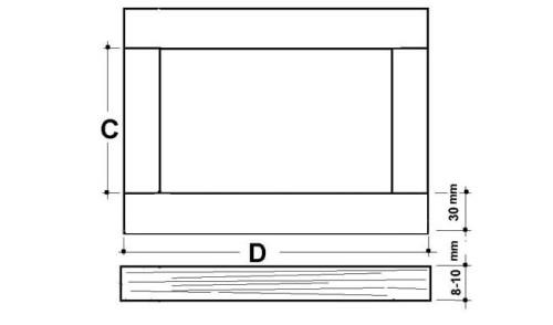 Схема рамы для гобелена