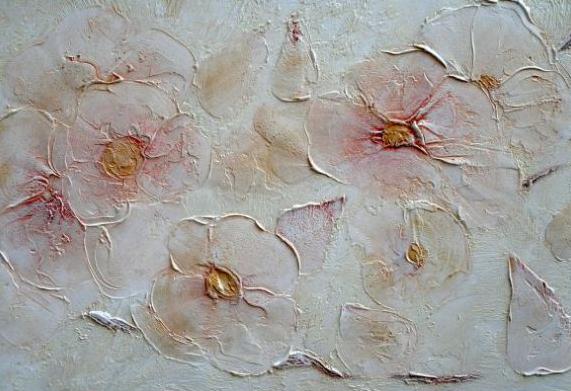 Штукатурка цветы