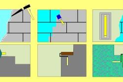Схема оштукатуривания и покраски стены.