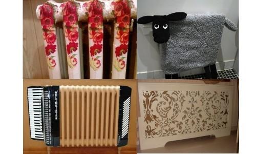 Варианты декорирования радиаторов отопления