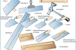 Инструменты, нужные для кладки штукатурки
